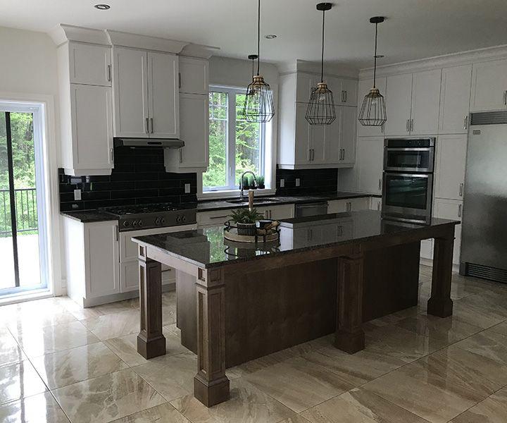 Projet rénovation de cuisine installation de céramique et granite