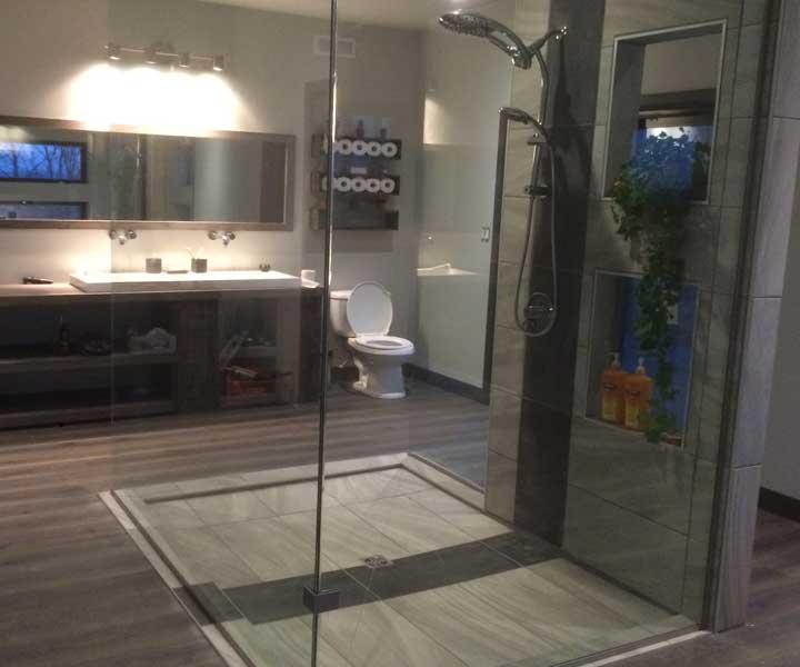 Projet de douche en céramique