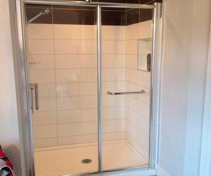 Projet résidentiel de carrelage de douche