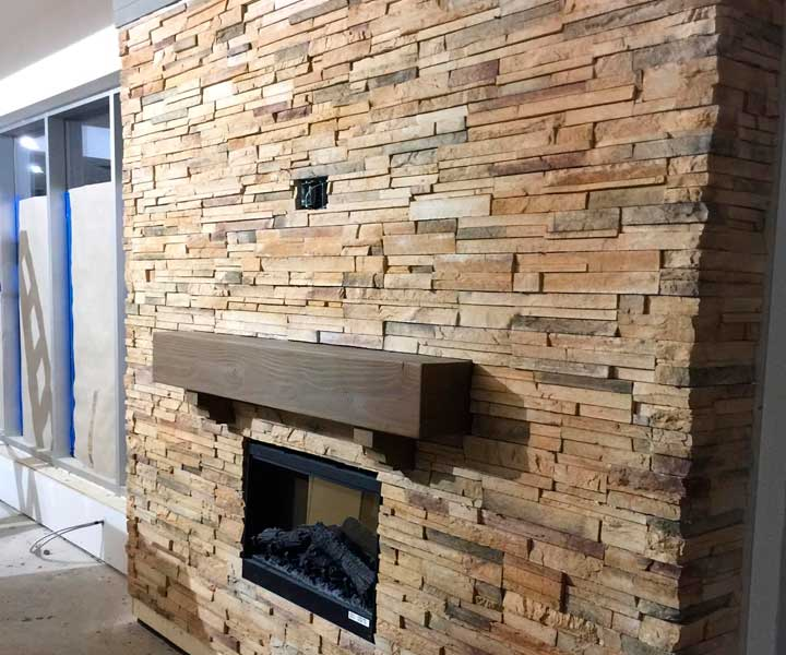 Projet de foyer en pierres